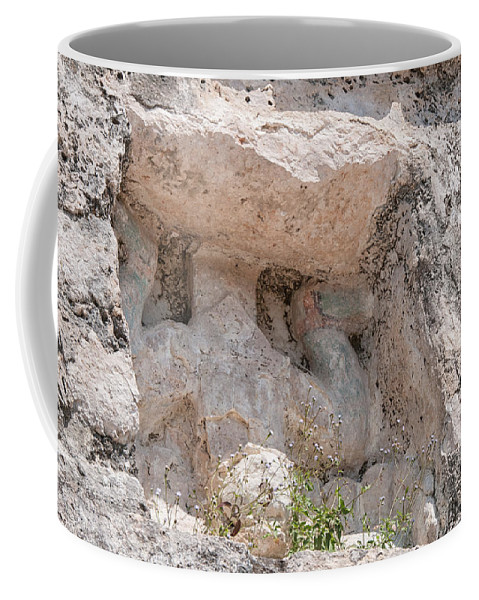 Mexico Quintana Roo Coffee Mug featuring the digital art Grupo Nohoch Mul At The Coba Ruins by Carol Ailles