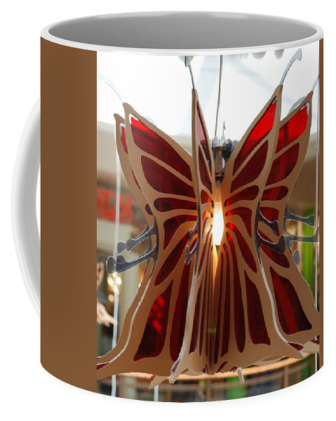 Butterfly Coffee Mug featuring the photograph Hanging Butterfly by Rob Hans