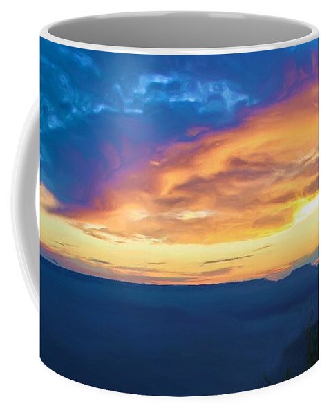 Grand Canyon Coffee Mug featuring the photograph Here Comes The Sun by Heidi Smith