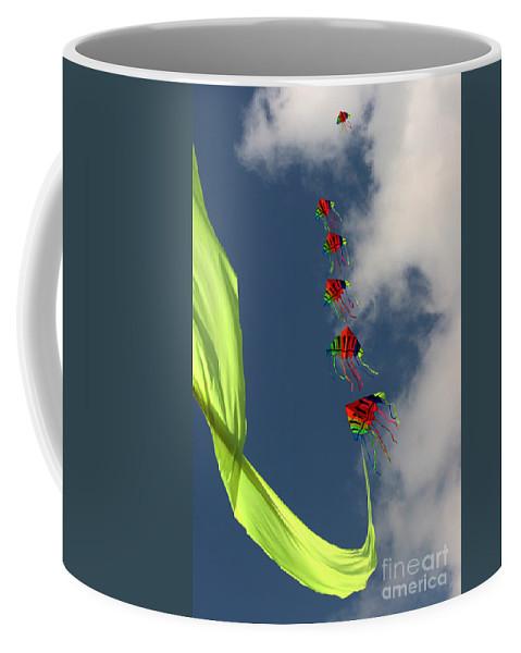 Kite Coffee Mug featuring the photograph High Hopes by Angel Tarantella