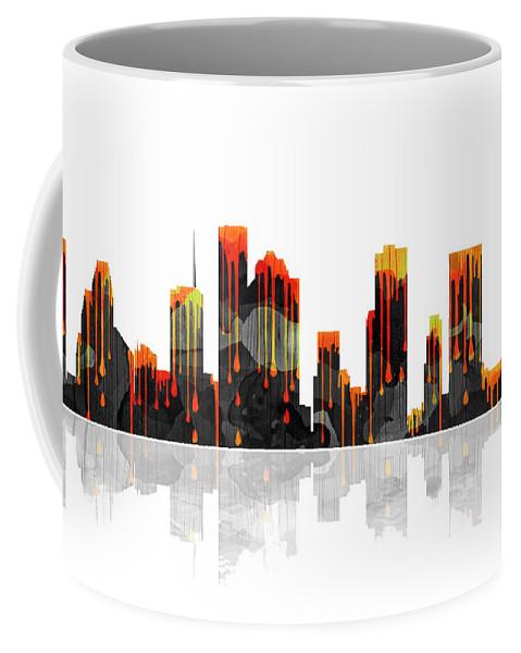 Houston Texas Skyline Coffee Mug featuring the digital art Houston Texas Skyline by Marlene Watson
