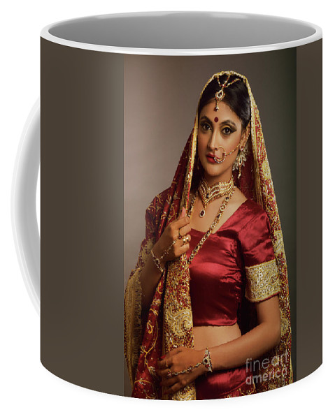 Indian Coffee Mug featuring the photograph Indian Bride by Kiran Joshi