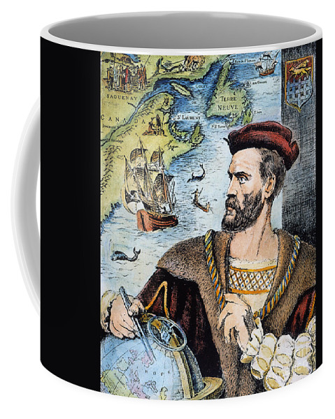 16th Century Coffee Mug featuring the photograph Jacques Cartier (1491-1557) by Granger