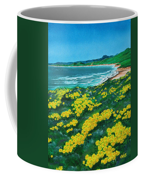 Jalama Coffee Mug featuring the painting Jalama Beach by Angie Hamlin