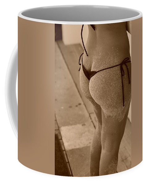 Sepia Coffee Mug featuring the photograph L W Thong by Rob Hans