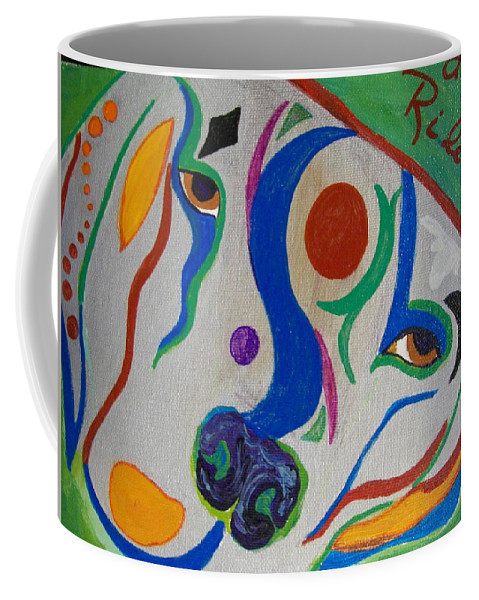 Silver Coffee Mug featuring the painting life of Riley by Laurette Escobar