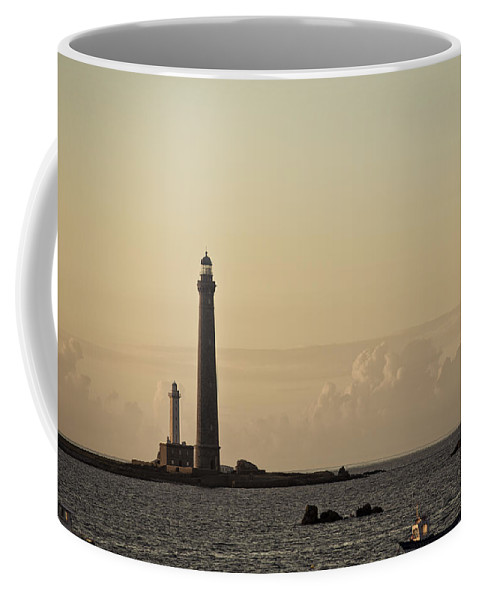 Harbor Coffee Mug featuring the photograph Lighthouse by Nailia Schwarz