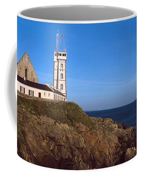 Photography Coffee Mug featuring the photograph Lighthouse On The Coast, Saint-mathieu by Panoramic Images