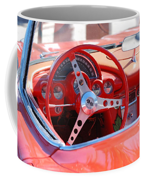 Corvette Coffee Mug featuring the photograph Little Red Corvette by Rob Hans