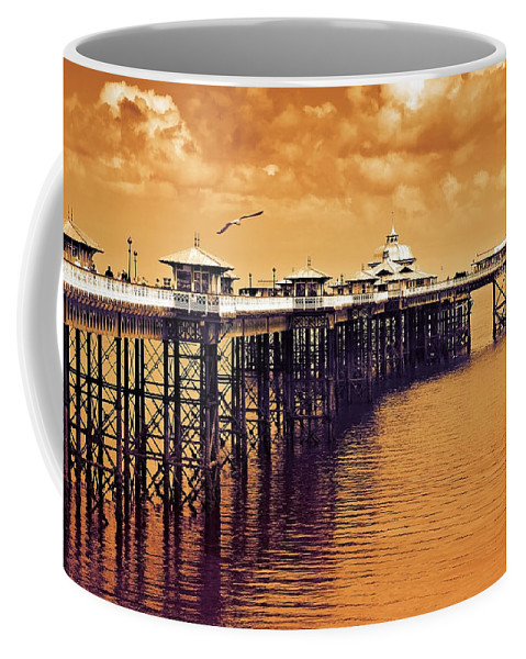 Llandudno Coffee Mug featuring the photograph Llandudno Pier North Wales Uk by Mal Bray