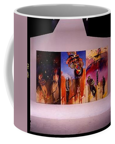 Canvas Coffee Mug featuring the painting Love Hurts by Charles Stuart