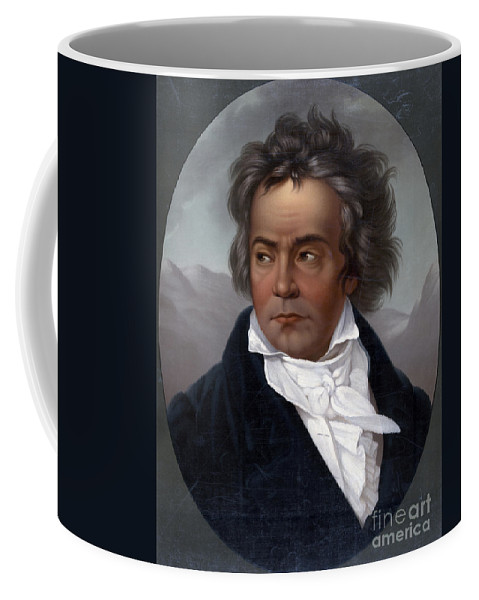 Fine Arts Coffee Mug featuring the photograph Ludwig Van Beethoven, German Composer by Science Source