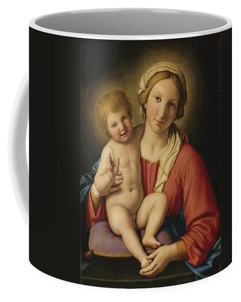 Sassoferrato Coffee Mug featuring the painting Madonna And Child by Sassoferrato