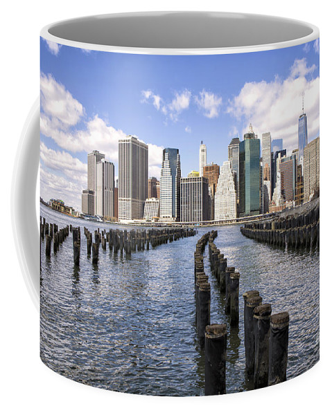 New Coffee Mug featuring the photograph Manhattan by Paul Fell