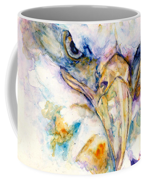 Eagle Coffee Mug featuring the painting Marie's Eagle by Elisha Dasenbrock