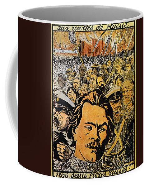 20th Century Coffee Mug featuring the photograph Maxim Gorki (1868-1936) by Granger