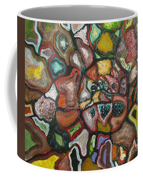 Abstract Paintings Paintings Abstract Art Paintings Coffee Mug featuring the painting Mindscape by Seon-Jeong Kim