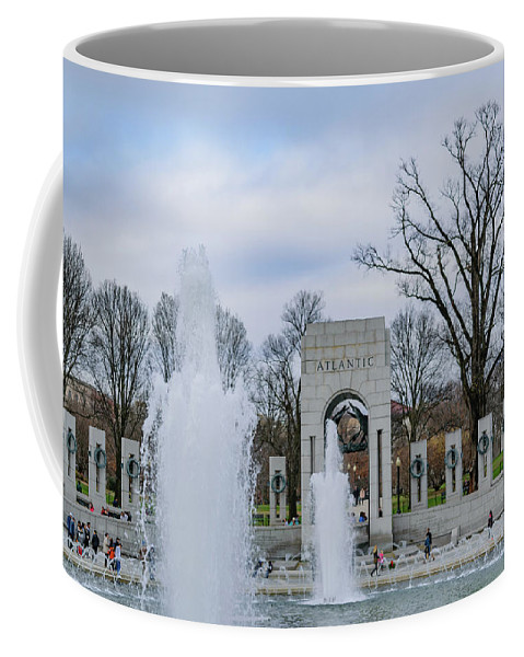 American Coffee Mug featuring the photograph National World War II Memorial by Cityscape Photography