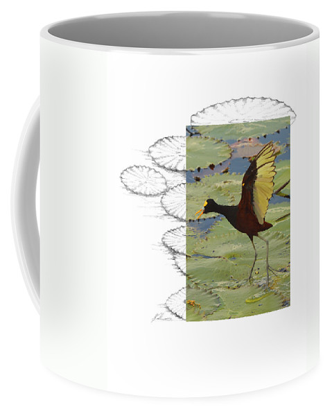 Northern Jacana Coffee Mug featuring the photograph Northern Jacana by Andrew McInnes