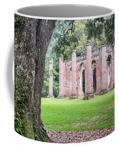 Old Sheldon Church Coffee Mug featuring the photograph Old Sheldon Church Ruins by Dawna Moore Photography