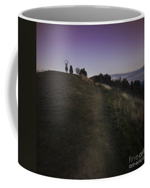 Malvern Hills Coffee Mug featuring the photograph On The Top Of The World by Angel Tarantella