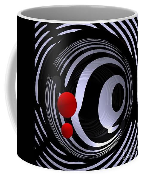 3d Coffee Mug featuring the digital art Opart -f- by Issabild -