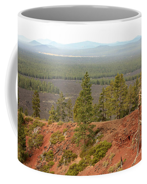 Oregon Coffee Mug featuring the photograph Oregon Landscape - View From Lava Butte by Carol Groenen