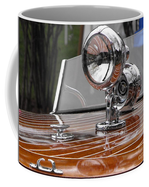 Chris Craft Coffee Mug featuring the photograph Outboard Runabout by Neil Zimmerman
