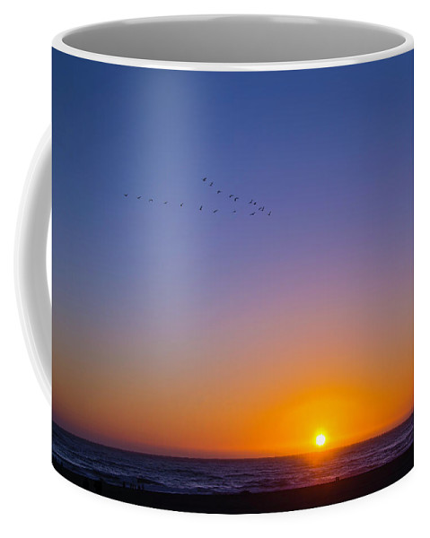 Pacific Sunset Coffee Mug featuring the photograph Pacific Sunset by Garry Gay
