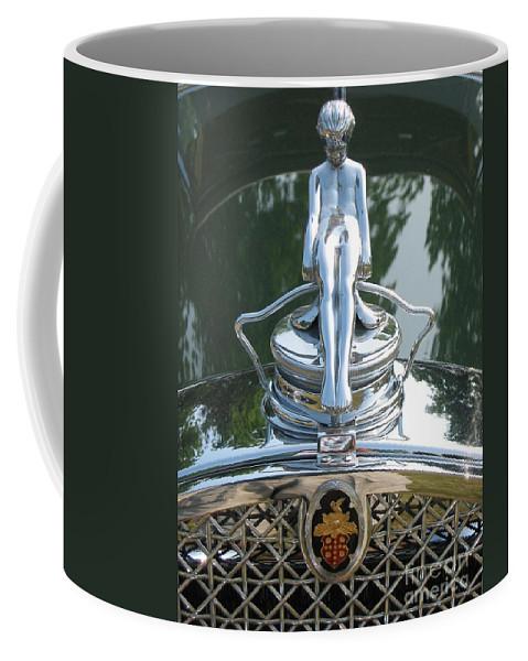 Packard Coffee Mug featuring the photograph Packard Hood Ornament by Neil Zimmerman
