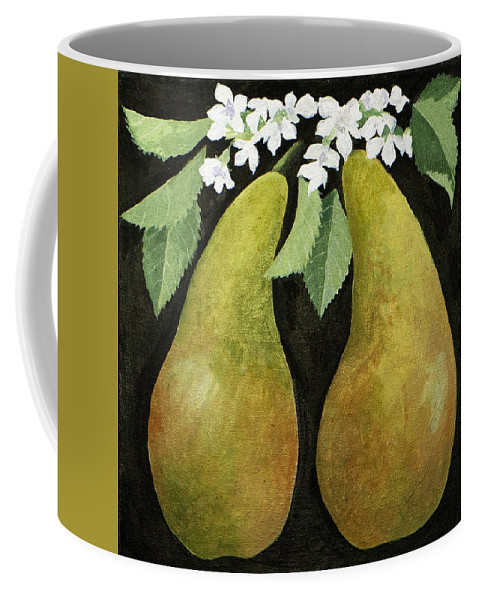 Pears Coffee Mug featuring the painting Pears by Jennifer Abbot