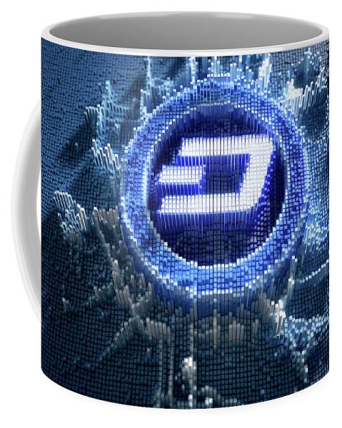 Dash Coffee Mug featuring the digital art Pixel Dash Concept by Allan Swart