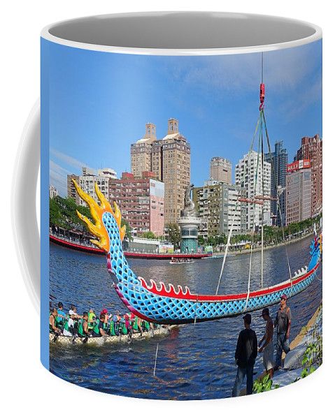 Kaohsiung Coffee Mug featuring the photograph Preparation For The 2016 Dragon Boat Festival by Yali Shi