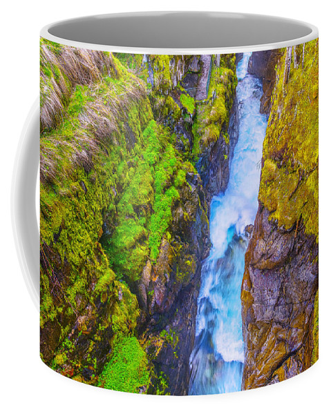 France Coffee Mug featuring the photograph Pyrenees Waterfall by Jean-luc Bohin