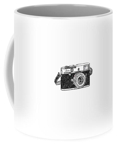 Analog Coffee Mug featuring the digital art Rangefinder Camera by Setsiri Silapasuwanchai