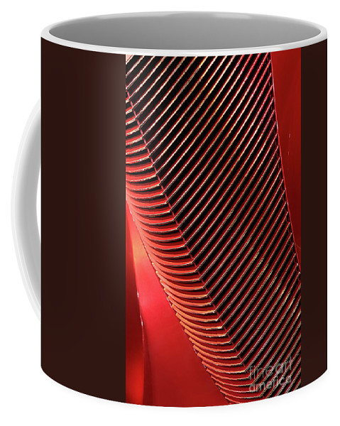 Car Coffee Mug featuring the photograph Red Classic Car Details by Oleksiy Maksymenko