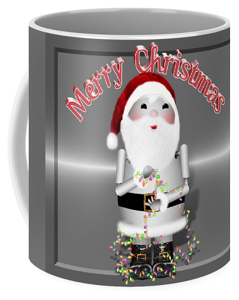 Coffee Mug featuring the mixed media Robo-x9 Wishes A Merry Christmas by Gravityx9 Designs