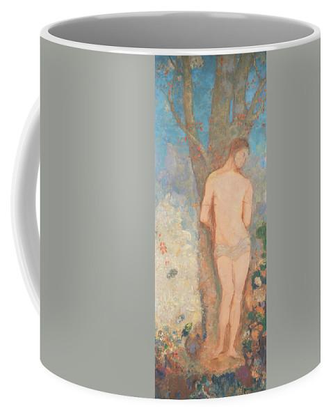 Odilon Redon Coffee Mug featuring the painting Saint Sebastian by Odilon Redon