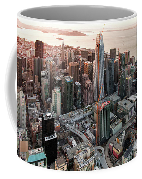 Financial District Coffee Mug featuring the photograph San Francisco Financial District Skyline by David Oppenheimer