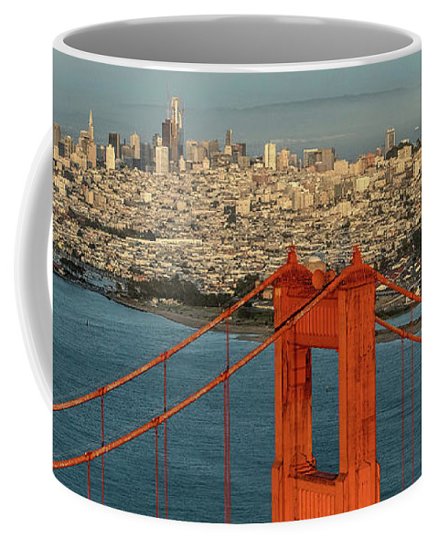 San Francisco Bay Coffee Mug featuring the photograph San Francisco Skyline by David Oppenheimer