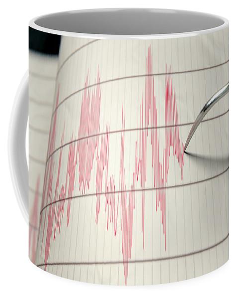 Seismic Coffee Mug featuring the digital art Seismograph Earthquake Activity by Allan Swart