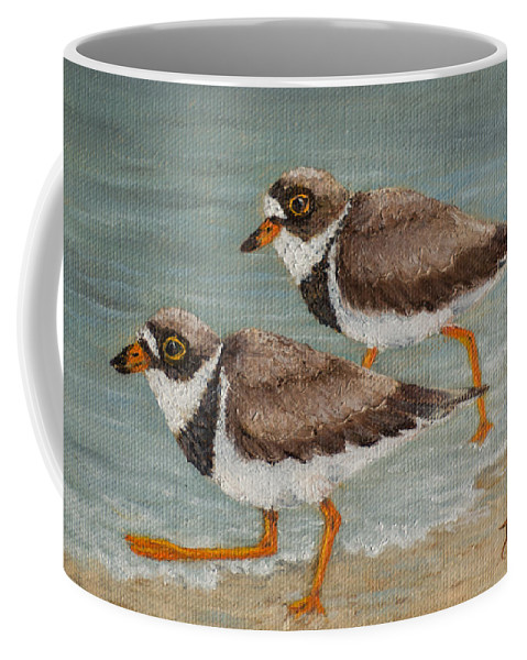 Bird Coffee Mug featuring the painting Semipalmated Plover by Dee Carpenter