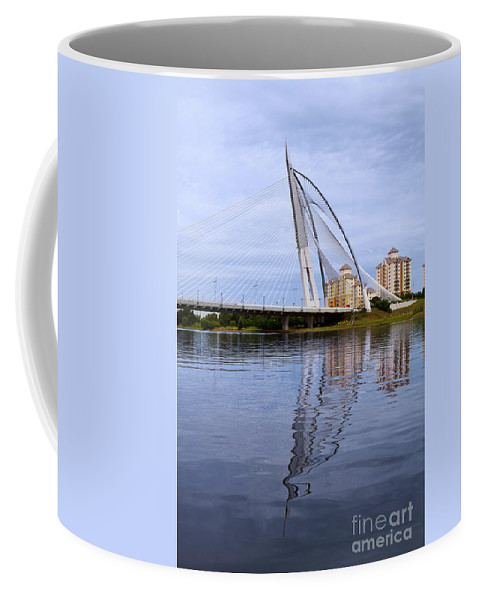 Travel Coffee Mug featuring the photograph Seri Wawasan Bridge by Louise Heusinkveld