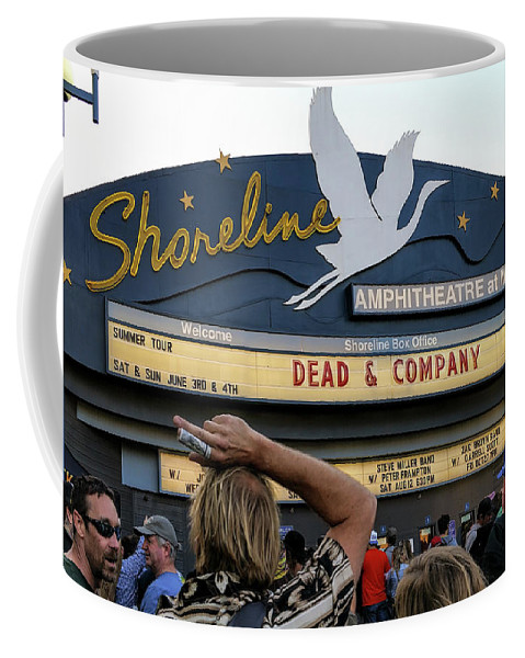 Shoreline Amphitheatre Coffee Mug featuring the photograph Shoreline Amphitheatre - Dead And Company by David Oppenheimer