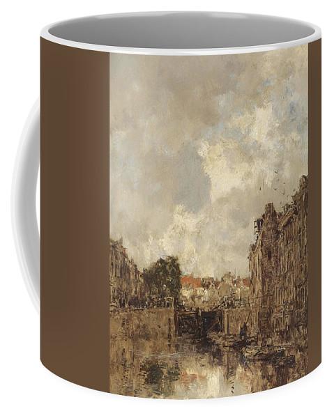 Johan Hendrik Van Mastenbroek (1875-1945) Sluisje Coffee Mug featuring the painting Sluisje by Johan Hendrik
