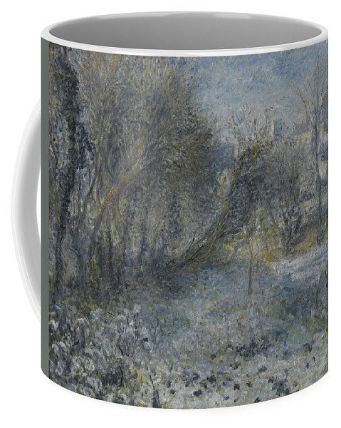 Auguste Renoir Coffee Mug featuring the painting Snow Covered Landscape by Auguste Renoir