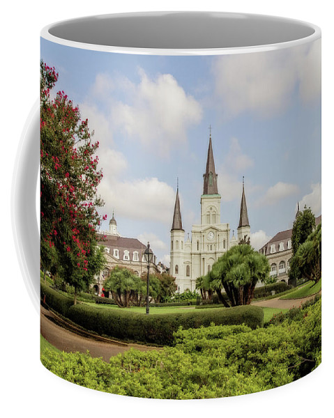 St. Louis Cathedral Coffee Mug featuring the photograph St. Louis Cathedral - Hdr by Scott Pellegrin