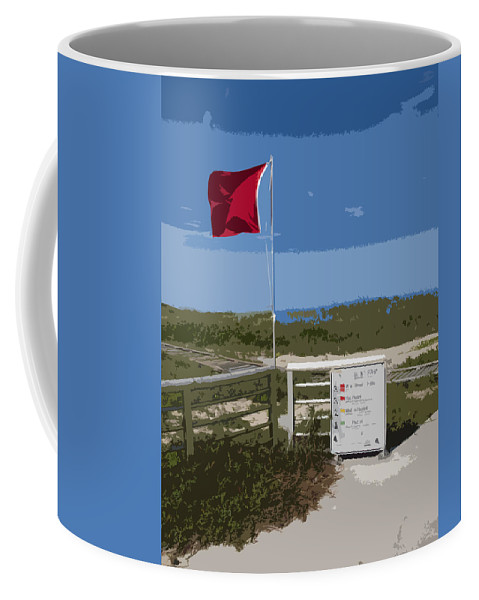 Storm Coffee Mug featuring the painting Storm Warning On The Atlantic Ocean In Florida by Allan Hughes