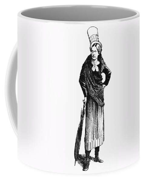 1873 Coffee Mug featuring the photograph Susan B. Anthony (1820-1906) by Granger