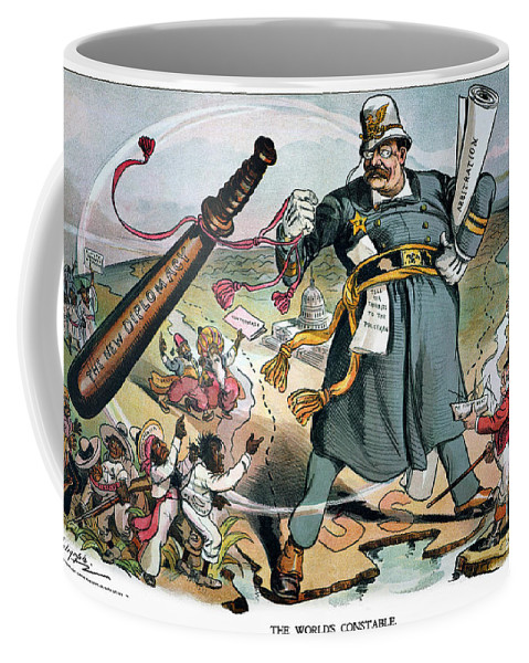 1905 Coffee Mug featuring the photograph T. Roosevelt Cartoon by Granger